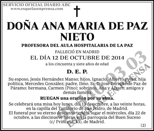 Ana María de Paz Nieto